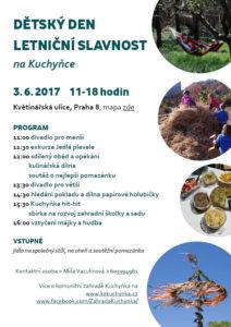 Pozvánka Dětský den a slavnost na Kuchyňce 3.6.2017
